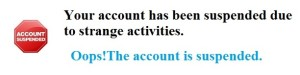 Suspended accounts