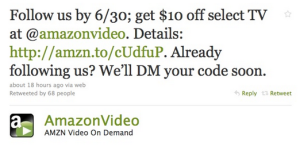 Brand use twitter for their promotion
