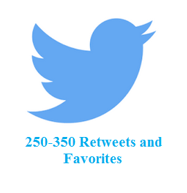250-350 Retweets and favorites
