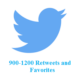 900-1200 Retweets and favorites