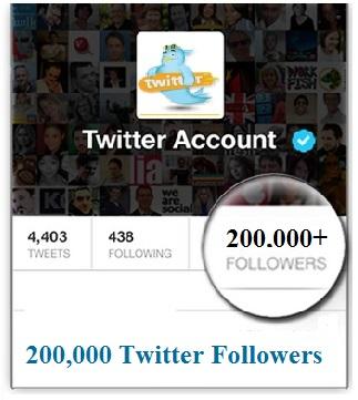200000 TWITTER FOLLOWERS